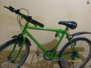 Ini dia sepeda yang bikin Rifu penasaran, hehe...